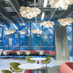 LZF Agatha Pendant Lights in Hotel Lobby