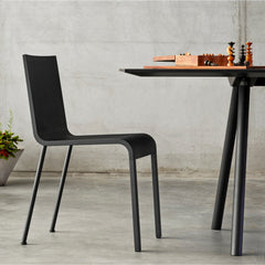 Maarten Van Severen Non-stacking .03 Chair in Basic Dark and Black Powder-Coated Legs from Vitra