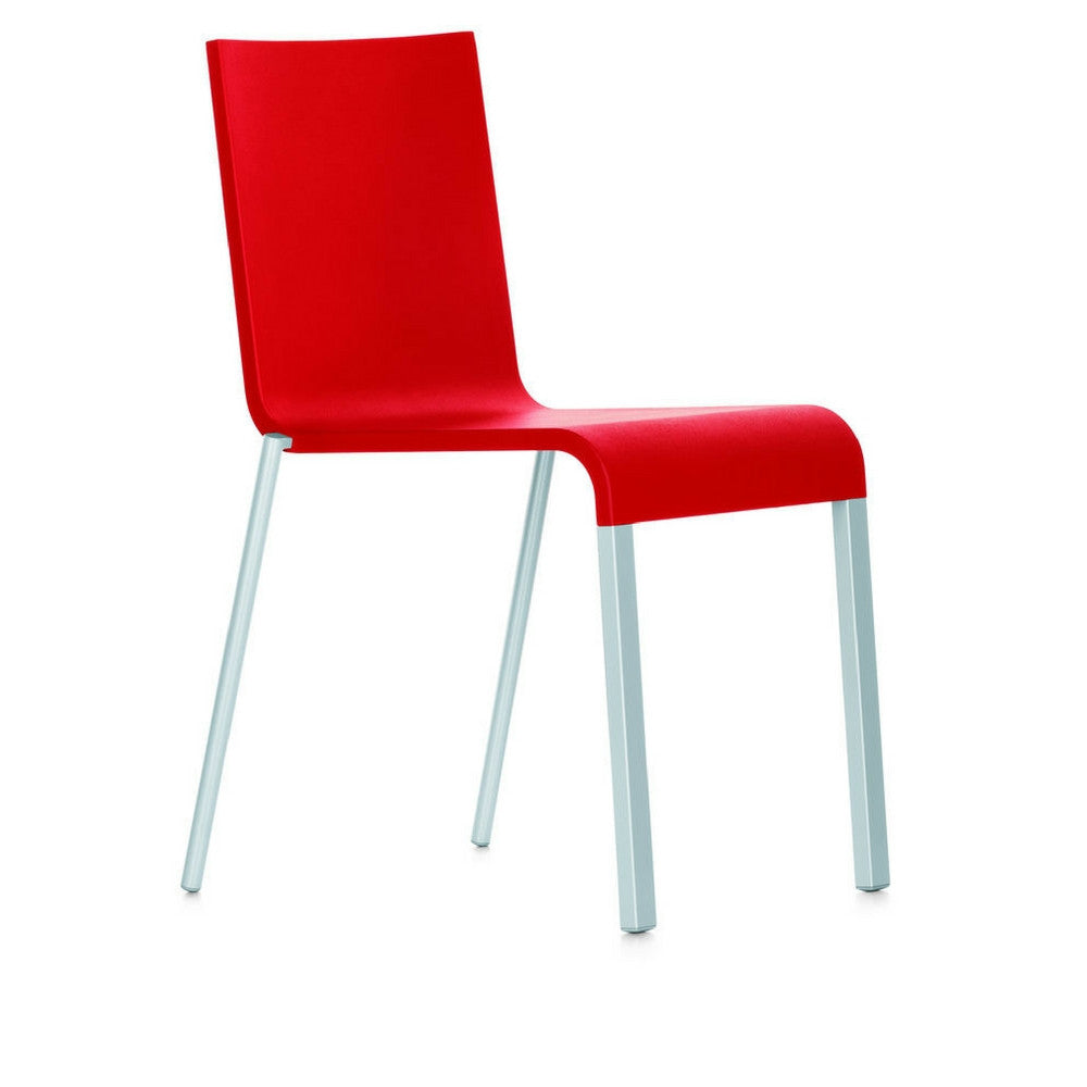 Bright Red Maarten Van Severen .03 Chair, Stacking Version from Vitra