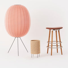 Ro Table Lamp in room with Knit Wit Lamp by Iskos Berlin and Sturdy Stool by Ilse Crawford