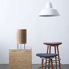 Made by Hand Ro Table Lamp styled with Sturdy Stools