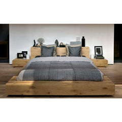 Oak Madra Platform Bed with nightstands from Ethnicraft