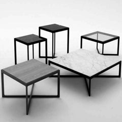 Marc Krusin Table Collection Black and White Knoll