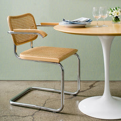 Marcel Breuer Cesca Beech Armchairs with Saarinen Tulip Table for Knoll