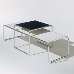 Marcel Breuer Black and White Laccio Coffee Tables Knoll