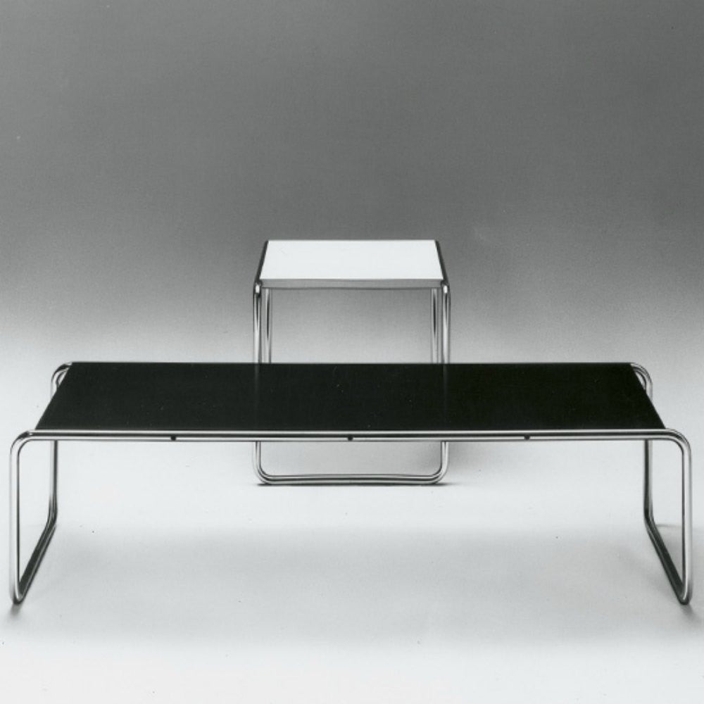 Marcel breuer laccio coffee table knoll modern furniture marcel breuer laccio tables black and white original knoll geotapseo Images