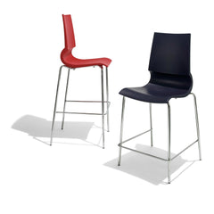 Marco Maran Gigi Barstools Red and Black Knoll