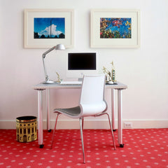 Marco Maran White Gigi Chair at Desk with Copeland Light Knoll