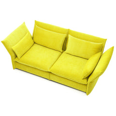 Yellow Mariposa Sofa Aerial View Barber Osgerby for Vitra