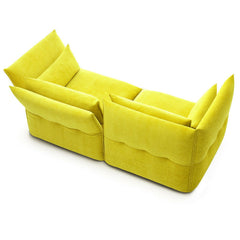 Yellow Mariposa Sofa Back Aerial View Barber Osgerby for Vitra