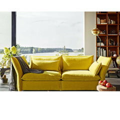 Yellow Mariposa Sofa in Room Barber & Osgerby for Vitra