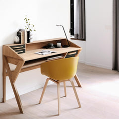 Mr. Marius Origami Desk with Black Drawers from Ethnicraft