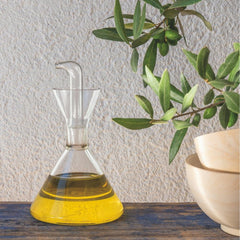 Marquina Oil Cruet styled with olive branches