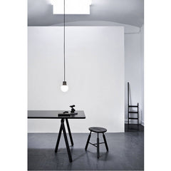 Mass Pendant Light NA5 Dark Marble over NA2 Table and NA3 Stool by Norm Architects for & Tradition