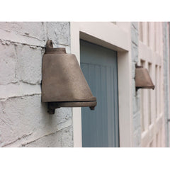 Mast Light Sandblasted Bronze Pair on House Davey Lighting Original BTC