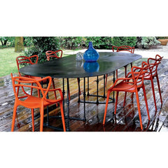 Outdoor Dining Rusty Orange Masters Chairs by Philippe Starck for Kartell