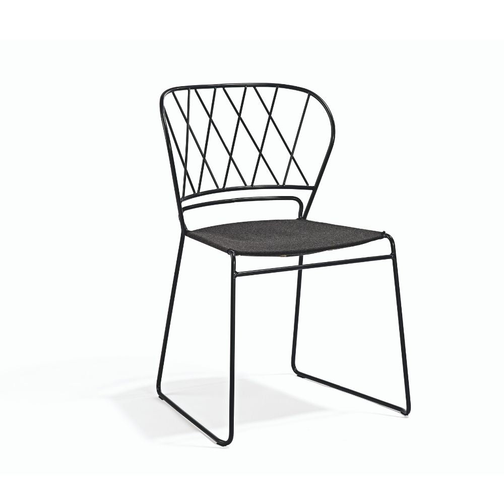 Resö Chair with Sunbrella Sling Seat by Matilda Lindblom for Skargaarden