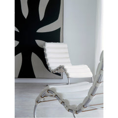 Mies van der Rohe MR Chaise Lounge Chairs White in Room Knoll