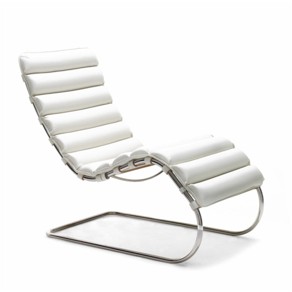 Mies van der Rohe MR Chaise White Knoll