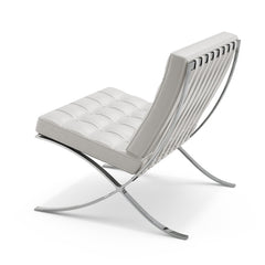 Mies van der Rohe White Barcelona Chair Back Knoll