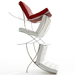 Mies van der Rohe Barcelona Chairs Stacked Knoll