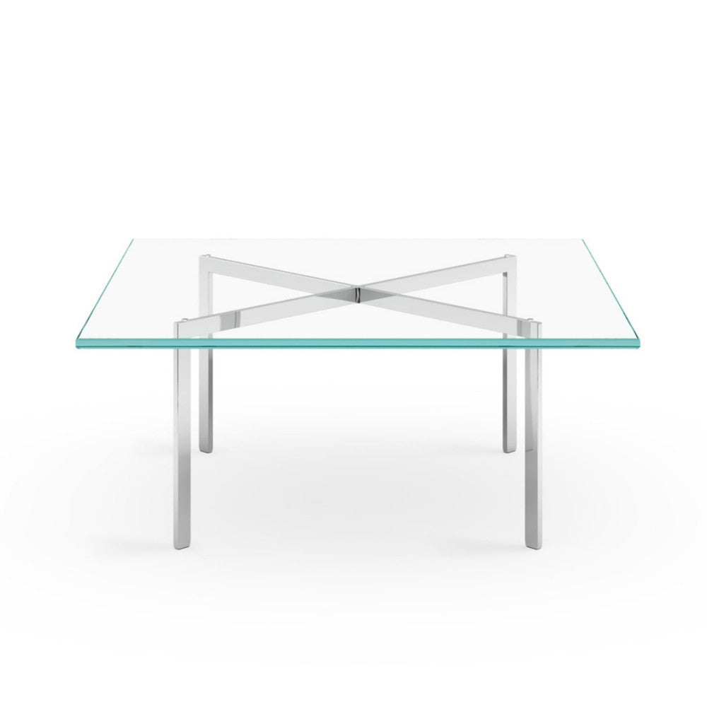 Mies van der Rohe Chrome and Glass Barcelona Table Knoll