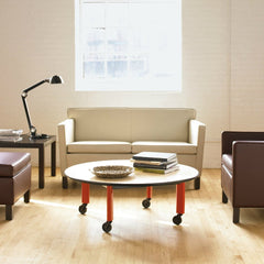 Mies van der Rohe Krefeld Settee White Leather in NYC Loft Knoll