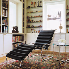 Mies van der Rohe MR Table with MR Adjustable Chaise from Knoll in Living Room