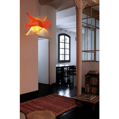 Miguel Herranz MiniMikado Suspension Light Orange Entryway LZF Lamps