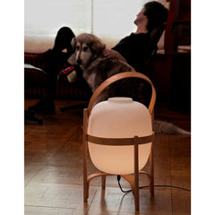 Miguel Milá Cesta Table Lamp with Dog by Santa & Cole