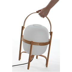Miguel Milá Cesta Table Lamp with Hand by Santa & Cole