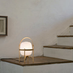 Miguel Milá Cestita Table Lamp on Stairs by Santa & Cole