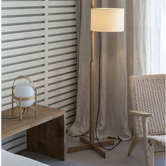 Miguel Milá Cestita Table Lamp by Santa & Cole with Hans Wegner CH25 Lounge Chair at the Margot House Barcelona