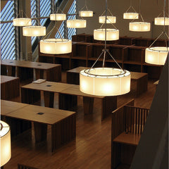 Miguel Milá Sexta Suspension Lamp Installation at Columbia University NYC by Santa & Cole