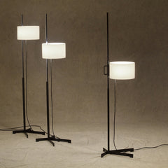 Miguel Milá TMC Floor Lamps Positioned at Three Different Heights from Santa & Cole