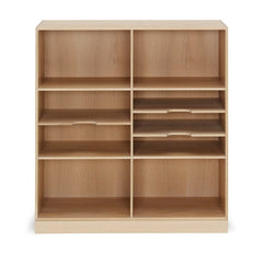 Mogens Kock Bookcase MK40880 Oak Six Shelves Wide with Dividers Carl Hansen and Son