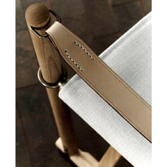 Mogens Koch Folding Chair leather strap detail Carl Hansen and Son