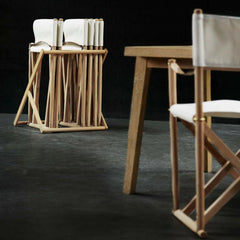Mogens Koch Folding Chairs on Rack Carl Hansen and Son