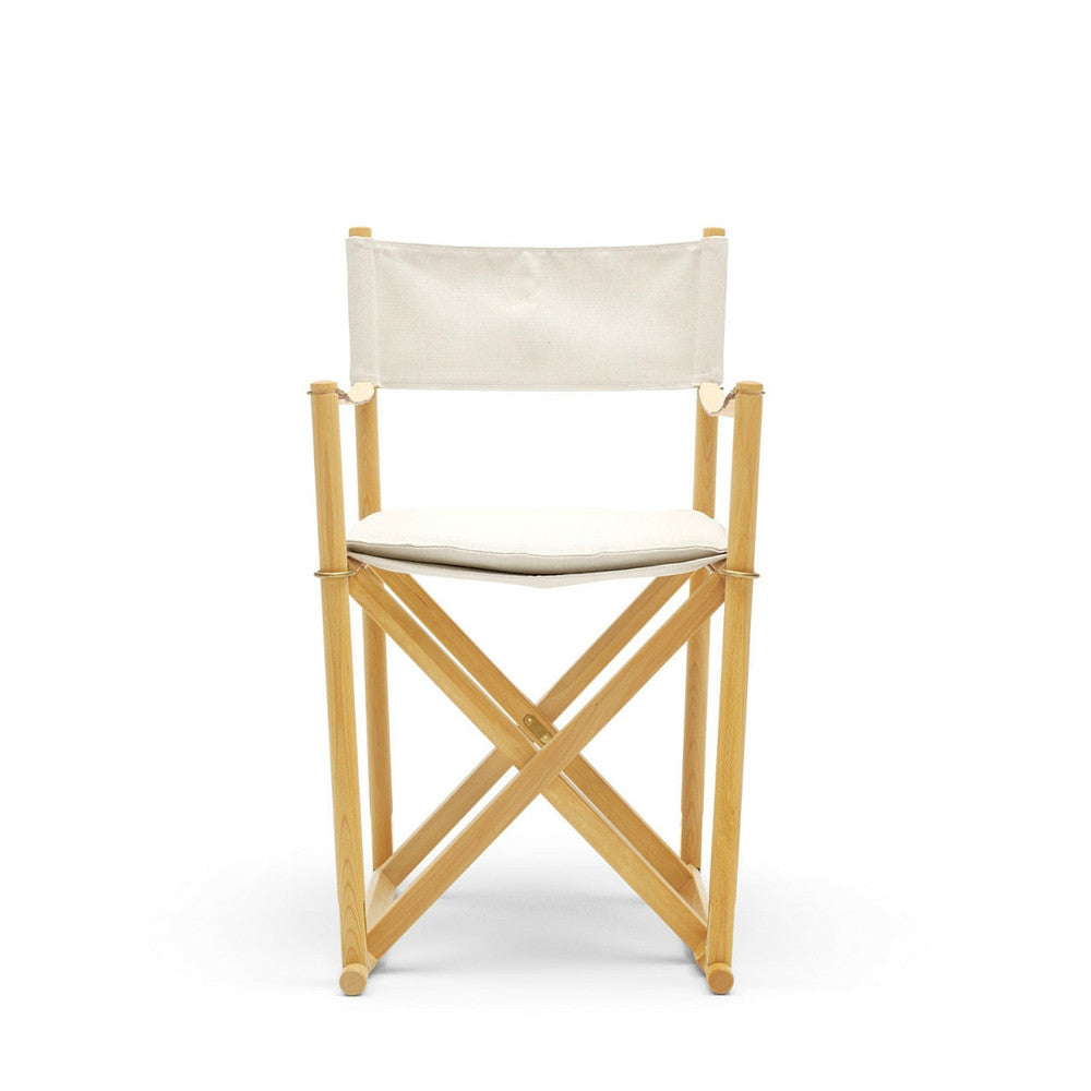 Mogens Koch Folding Chair MK99200 with Beech and White Canvas from Carl Hansen & Søn
