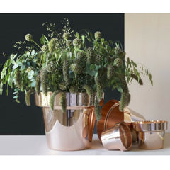 Large, Medium, Small, and Mini Copper Flower Pots from Monica Förster for Skultuna