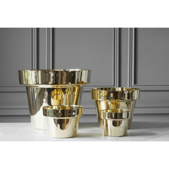 Monica Förster Polished Brass Flower Pot Collection from Skultuna