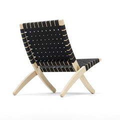 Morten Gottler Cuba Chair Black Cotton Natural Oak Back Carl Hansen & Son
