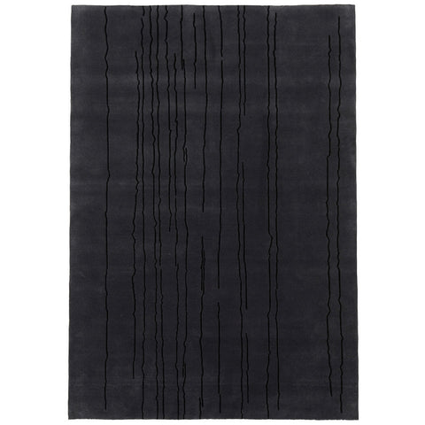 Woodlines Rug All Black | Naja Utzon Popov