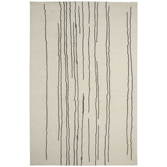Woodlines Rug White with Black Lines by Naja Utzon Popov for Carl Hansen & Son