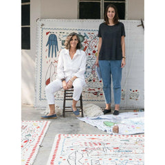 Nani Marquina and Maria with Hayon x Nani Rugs