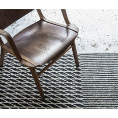Nanimarquina Blur Rug Black with Wooden Chair