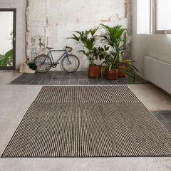 Nanimarquina Blur Rug Black in Room with Bicycle