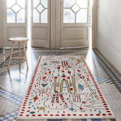 Nani Marquina Hayon x Nani Rug in room with Spanish Tile