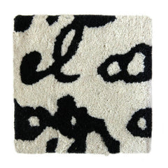 Nani Marquina Manuscrit Rug by Joaquim Ruiz Millet Black and White Detail