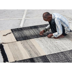 Nani Marquina Tres Rug Black being made